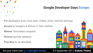 Join Google Developer Days Europe